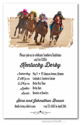 Round the Curve Horse Racing Invitations