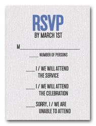 Blue on White Bar Mitzvah RSVP