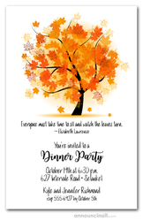 Autumn Maple Tree Party Invitations