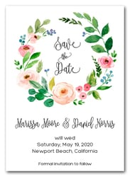 Amy Floral Wreath Save the Date