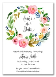 Cara Floral Wreath Save the Date