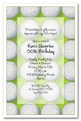 Mens Theme Invitations Score Golf