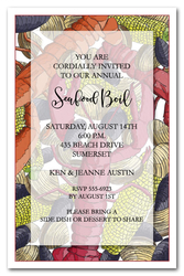 Clambake Invitations Seafood Party Invitations