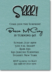 Mens Theme Invitations Shimmery Turquoise Shhh