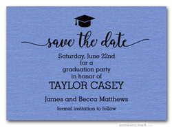 Grad Hat Save the Date Cards