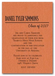 Shimmery Orange Classic Graduation