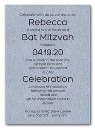 Shimmery Silver Bold Bar Mitzvah