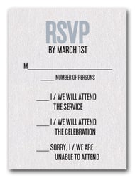 Silver on White Bar Mitzvah RSVP