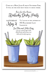 Two Julep Cups Kentucky Derby Invitations
