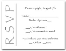 Silver on White RSVP Cards #6