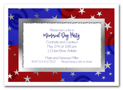 Stars on Red & Blue Invitations