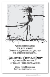 Skeleton Waltz Halloween Invitations