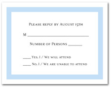 Sky Blue Border RSVP Cards #5