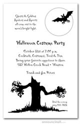 Spooky Tree Halloween Party Invitations