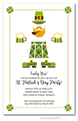 St. Patrick's Day Kilt Party Invitations