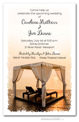 Summer Beach Cabana Party Invitations