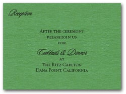 Shimmery Green Info Cards