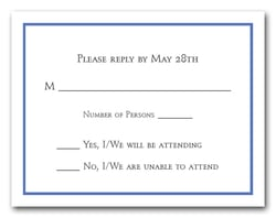 Blue Border RSVP Cards #8