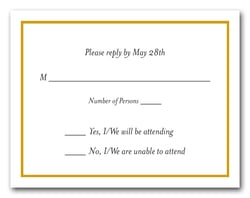 Goldenrod Border RSVP Card #8