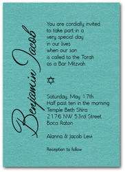 Shimmery Turquoise Bar Mitzvah