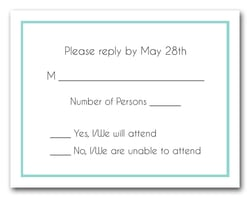 Tiffany Blue Border RSVP Card #8