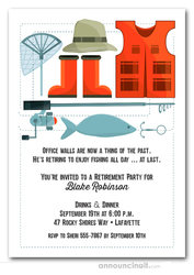 Fisherman's Gear Party Invitations