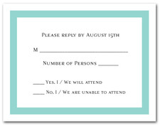 Tiffany Blue Border RSVP Cards #5