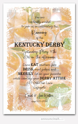 Tray of Juleps Kentucky Derby Invitations