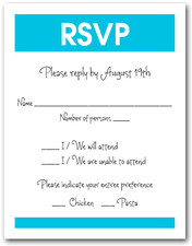 Turquoise Border RSVP Cards #3