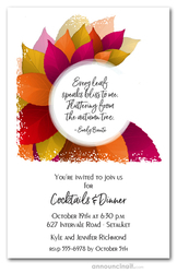 Vibrant Fall Leaves Invitations