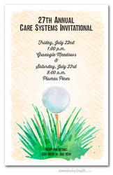 Watercolor Golf Ball Invitations