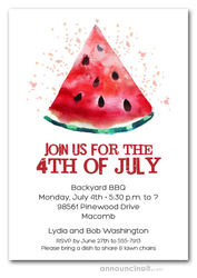 Slice of Watermelon Party Invitations