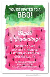 Watermelon Graduation Party Invitations