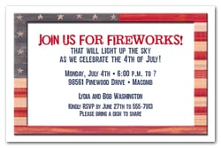 Weathered Flag Patriotic Invitations