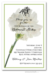 White Carnation Belmont Stakes Invitations