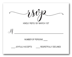 Modern RSVP Cards - Sweeping