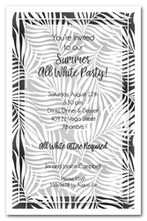 White Palms on Black Invitations