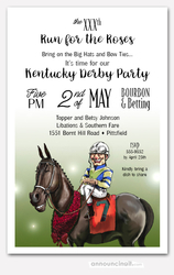 Winning Smiles Derby Party Invitations