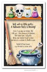 Witch's Workroom Halloween Invitations