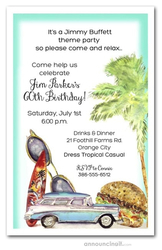 Cheeseburger Beach Party Invitations