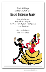 Flamenco Dancers Invitations