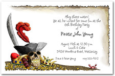 Pirate's Gold Invitations