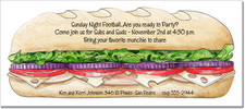 Sub Sandwich Party Invitations