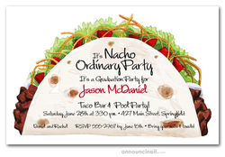 Taco Time Graduation Party Invitations