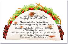 Taco Time Cinco de Mayo Party Invitations
