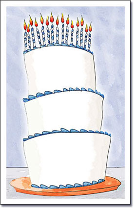 Tall Cake Blue