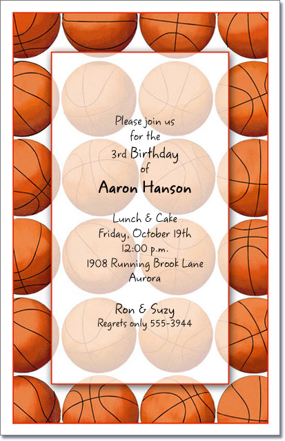 basketball party invitations basketball invitation sports birthday invitations - Basketball Party Invitations