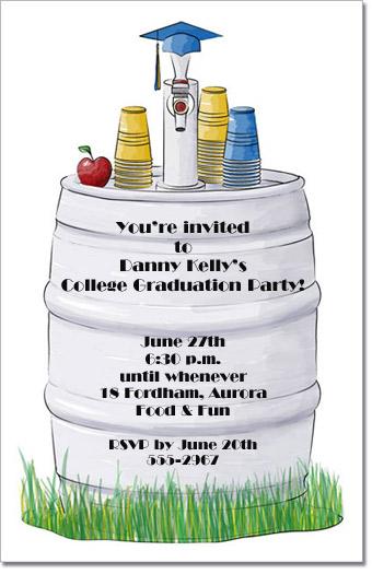 Graduation Beer Keg Party Invitation, Graduation Party ...