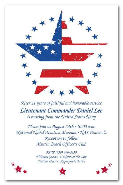 american stars military invitations