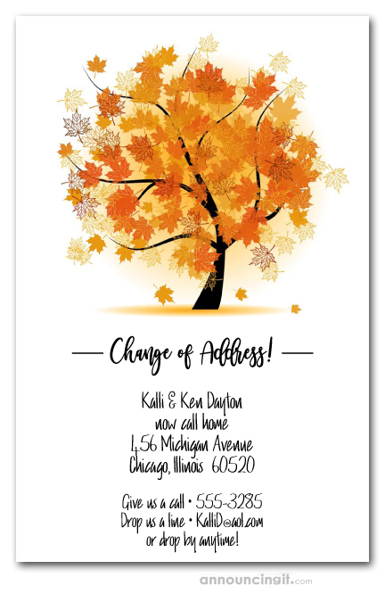 Fall party invitations autumn party invitations autumn maple tree filmwisefo